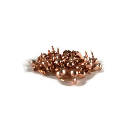 Creative Impressions - Brads - Round - Copper - Mini