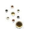 Creative Impressions - Brads - Round - Copper, Gold, Silver - Micro