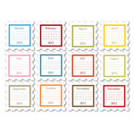 Chic Tags - Delightful Paper Tags - 2012 Square Stamp Calendars - Set of 12