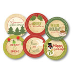 Chic Tags - Delightful Paper Tags - Christmas Greetings - Set of 6
