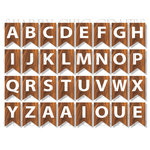 Chic Tags - Delightful Paper Tags - A Camping We Will Go Bunting Alphabet - Set of 32