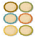 Chic Tags - Delightful Paper Tags - A Camping We Will Go Cabin Frames - Set of 6