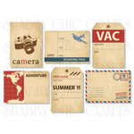 Chic Tags - Delightful Paper Tags - Bon Voyage Artist Trading Cards - Set of 6