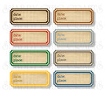 Chic Tags - Delightful Paper Tags - Bon Voyage Date Labels - Set of 8