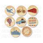 Chic Tags - Delightful Paper Tags - Bon Voyage Icons - Set of 8