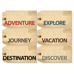 Chic Tags - Delightful Paper Tags - Bon Voyage Luggage Tags - Set of 6