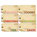 Chic Tags - Delightful Paper Tags - Christmas Luggage Tags - Set of 6