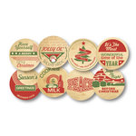 Chic Tags - Delightful Paper Tags - Christmas Milk Bottle Caps - Set of 8