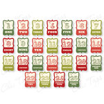 Chic Tags - Delightful Paper Tags - Christmas Mini Artisan Numbers - Set of 25