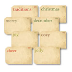 Chic Tags - Delightful Paper Tags - Christmas Vintage Flash Cards II - Set of 8