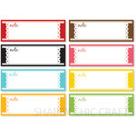 Chic Tags - Delightful Paper Tags - Date Strips - Set of 8
