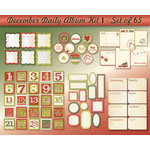 Chic Tags - Delightful Paper Tags - December Daily Album Kit I - Set of 65