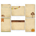 Chic Tags - Delightful Paper Tags - Fall Artist Trading Cards - Set of 6