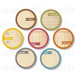 Chic Tags - Delightful Paper Tags - Fall Note Circles - Set of 7
