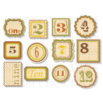 Chic Tags - Delightful Paper Tags - Fall Numbers - Set of 12