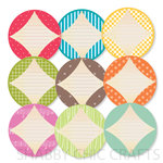 Chic Tags - Delightful Paper Tags - Flying Kites Journaling Circles - Set of 9