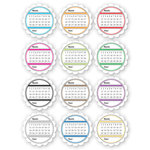 Chic Tags - Delightful Paper Tags - Forever Calendars - Brights - Set of 12