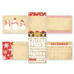 Chic Tags - Christmas - Delightful Paper Tags - Frosty Artist Trading Cards - Set of 6