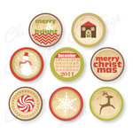 Chic Tags - Christmas - Delightful Paper Tags - Frosty Icons - Set of 8
