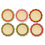 Chic Tags - Delightful Paper Tags - Frosty Scallops - Set of 6