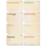 Chic Tags - Delightful Paper Tags - Grandma's Vintage Flashcards - Set of 8