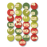Chic Tags - Christmas - Delightful Paper Tags - Mini Advent Numbers - Set of 25