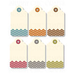 Chic Tags - Delightful Paper Tags - Mini Chevron Tags - Set of 6