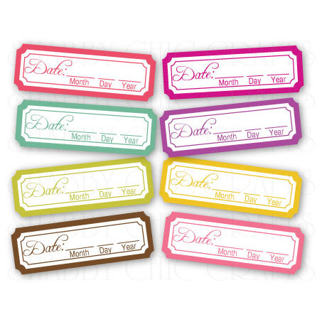 Chic Tags - Delightful Paper Tags - Spring is in the Air Date Tabs - Set of 8
