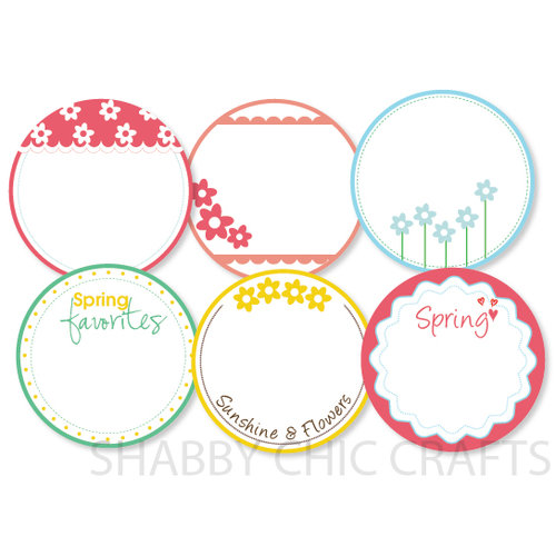 Chic Tags - Delightful Paper Tags - Spring Journaling Circles - Set of 6