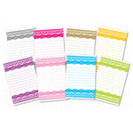 Chic Tags - Delightful Paper Tags - Spring Lace Journaling Tags - Set of 8