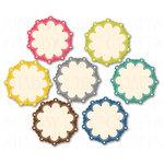 Chic Tags - Delightful Paper Tags - Spring Mini Scalloped Flowers - Set of 7