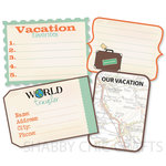 Chic Tags - Delightful Paper Tags - Vacation Journaling Tags - Set of 4