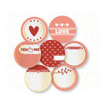 Chic Tags - Delightful Paper Tags - Valentine Embellishments - Set of 7