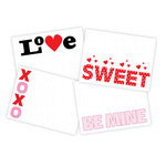 Chic Tags - Delightful Paper Tags - Valentine Journaling Words - Set of 4