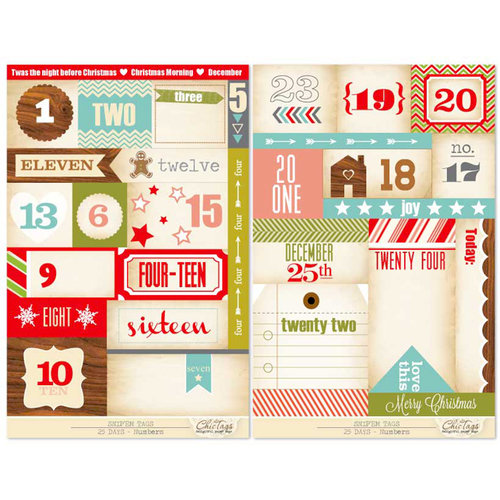 Chic Tags - Snip 'em Tags - Christmas - 25 Days Numbers