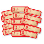 Chic Tags - Delightful Paper Tags - Vintage A is for - Set of 30