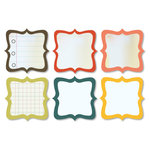 Chic Tags - Delightful Paper Tags - Vintage Artisan Notes - Set of 6