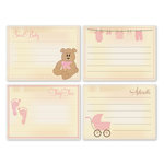 Chic Tags - Delightful Paper Tags - Vintage Baby Girl Cards - Set of 4