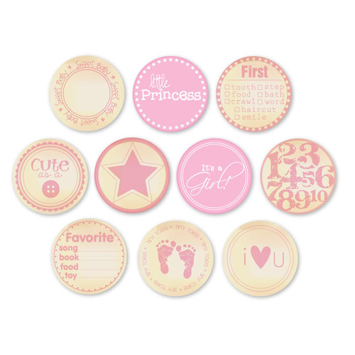 Chic Tags - Delightful Paper Tags - Vintage Baby Girl Embellishments - Set of 10