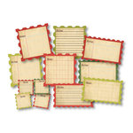 Chic Tags - Christmas - Delightful Paper Tags - Vintage Christmas Stamp Tags - Set of 12
