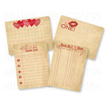 Chic Tags - Delightful Paper Tags - Vintage Valentine Cards - Set of 4