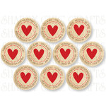 Chic Tags - Delightful Paper Tags - Vintage Valentine Tags - Set of 10