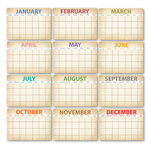 Chic Tags - Delightful Paper Tags - Calendar Artist Trading Cards - Set of 12