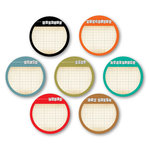 Chic Tags - Delightful Paper Tags - Everyday Life Note Circles - Set of 7