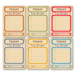 Chic Tags - Delightful Paper Tags - Everyday Life Today Artist Trading Cards - Set of 6