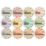 Chic Tags - Delightful Paper Tags - Hello Months - Color - Set of 12