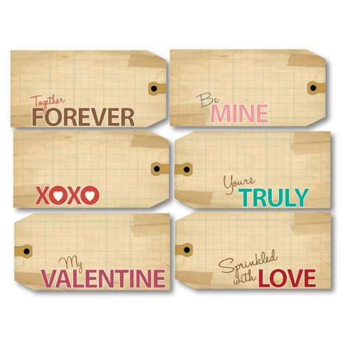 Chic Tags - Delightful Paper Tags - Valentine Luggage Tags - Set of 6