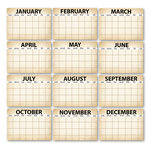 Chic Tags - Delightful Paper Tags - Calendar Artist Trading Cards - Black - Set of 12
