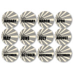Chic Tags - Delightful Paper Tags - Hello Months - Black - Set of 12