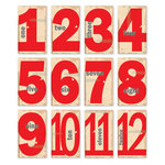 Chic Tags - Christmas - 25 Days Numbers - Set of 12